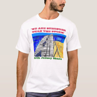 "NJ Shore Boardwalk ""Stronger than the Storm"" Tee"