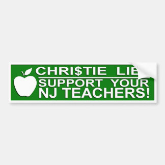 NJ TEACHERS BUMPER BUMPER STICKER
