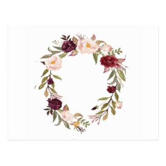 NJCO Flower Wreaths Postcard