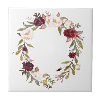 NJCO Flower Wreaths Tile