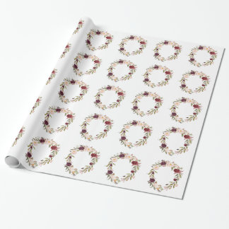NJCO Flower Wreaths Wrapping Paper
