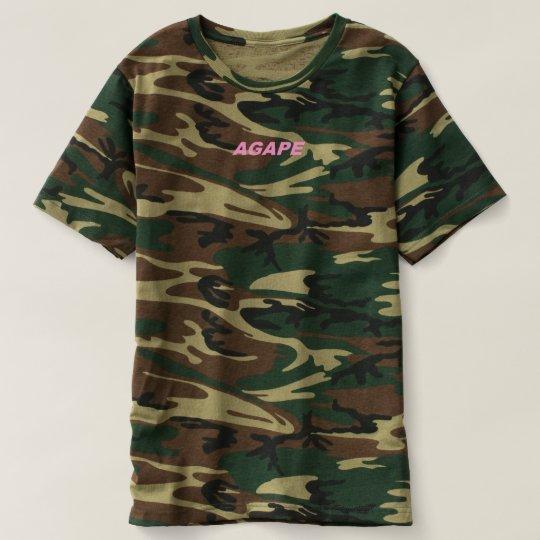 Njoku 'Agape' Logo 'Camo' T-Shirt. T-shirt