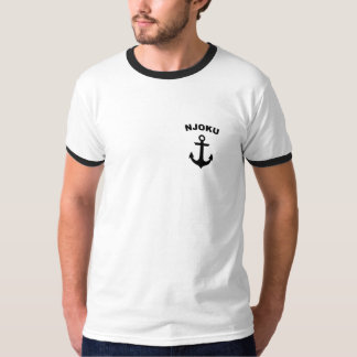 Njoku 'Anchor' Logo Ringer T-Shirt. T-Shirt