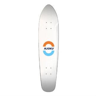 Njoku Orange/Navy/Blue 'Circle' Logo Skateboard. Skateboard Deck