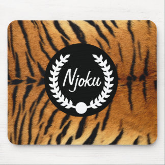 Njoku Tiger Skin 'Wreath' Mousepad #2.