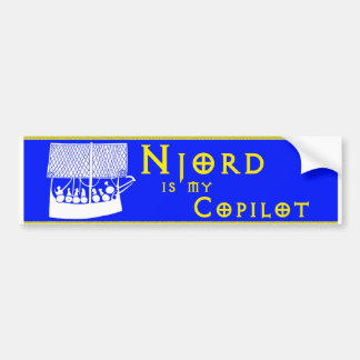 """Njord is My Copilot"" bumper sticker"