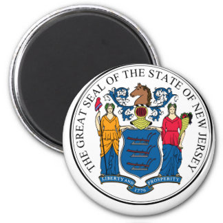 NJPI New Jersey State Seal 2 Inch Round Magnet
