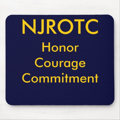 NJROTC, HonorCourageCommitment Mousepads