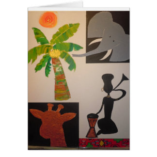 Nkosi, sikelel' iAfrika - God Bless Africa Card