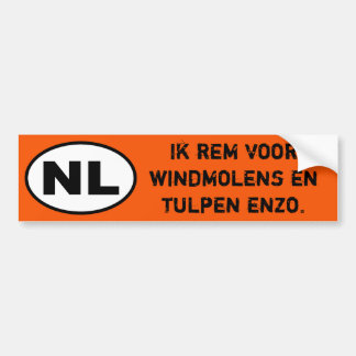 NL Sticker - I Break for windmills (Dutch Version)