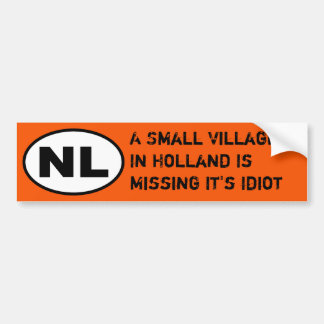 NL Sticker - Missing Village Idiot