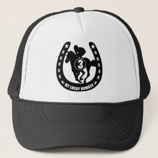 NO3 black Trucker Hat