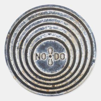 """""""NO8DO"""" Sevilla Manhole Cover Sticker"""