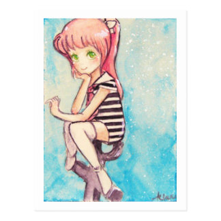 no.188 pink-haired sailor for renee postcard