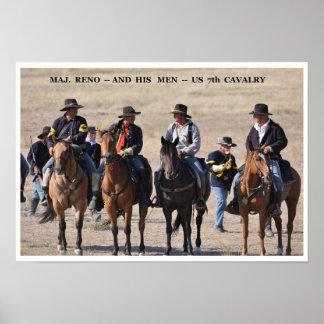 No 19 - DSC - 0(7) Maj. Reno and His 7th Cavalry Poster