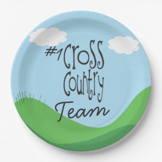 No 1 Cross Country Team 9 Inch Paper Plate