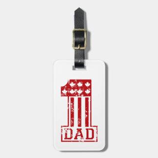 No. 1 Dad Canada Luggage Tag