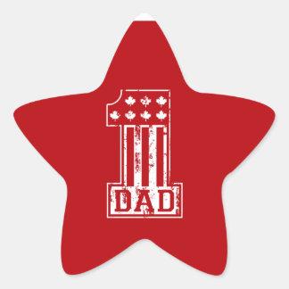 No 1 Dad Canada Stickers