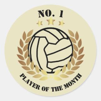 No.1 Player Netball Reward Classic Round Sticker