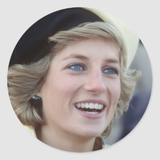 No.37 Princess Diana Southampton 1984 Classic Round Sticker