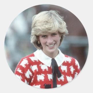 No.42 Princess Diana polo 1983 Round Sticker