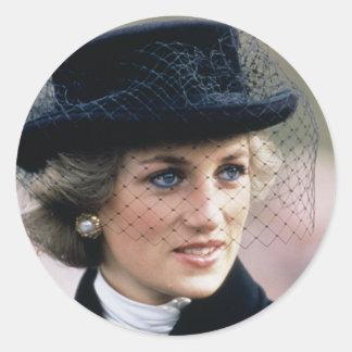 No.44 Princess Diana France 1988 Round Sticker