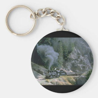 No. 497 rounds Phantom Curve_Steam Trains Basic Round Button Keychain