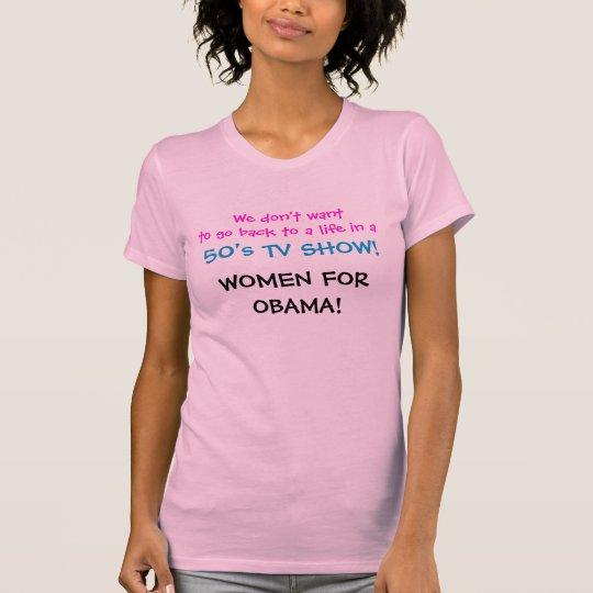 No 50s TV Show Obama T-Shirt