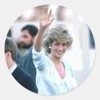 No.55 Princess Diana Florida USA 1985 Classic Round Sticker