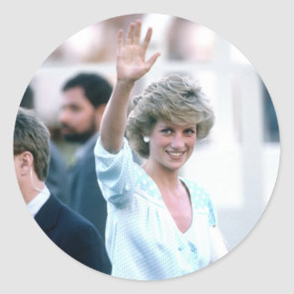 No.55 Princess Diana Florida USA 1985 Round Sticker