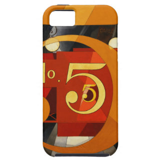 No 5 - The Figure 5 in Gold by Demuth Apple Case iPhone 5 Cases