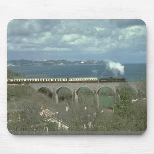 No. 7827 Lydham Manor skirts the coast in Torbay Mouse Pad