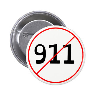 NO 911 logo A 2 Inch Round Button