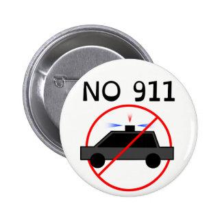 NO 911 logo B 2 Inch Round Button