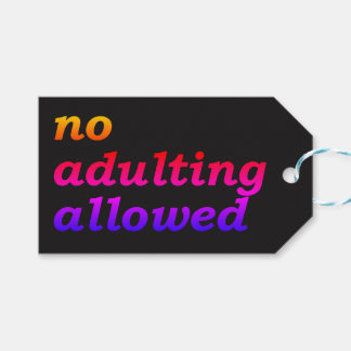 No Adulting Allowed Gift Tag (Black) Pack Of Gift Tags