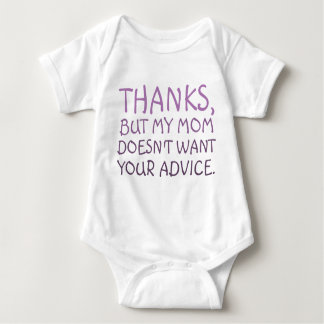 No Advice Baby Bodysuit