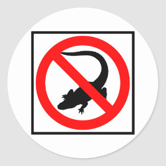 No Alligators Highway Sign Classic Round Sticker