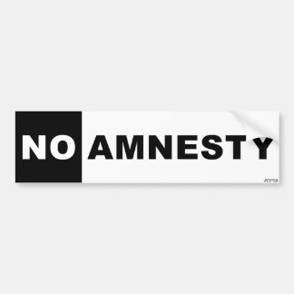 No Amnesty Bumper Sticker