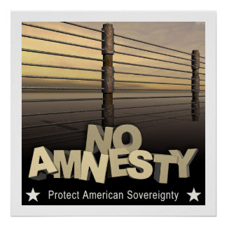No Amnesty Poster