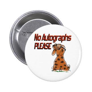 No Autographs Buttons