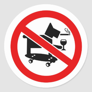 No Awesome Dogs Round Sticker