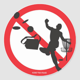 no bad sports classic round sticker