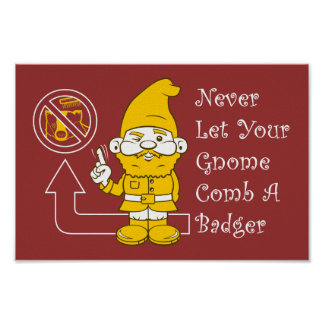 No Badgers For Gnomes Poster