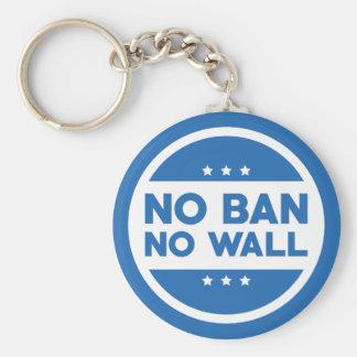 No Ban! No Wall! Keychain