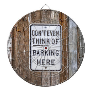 No Barking Sign Dartboard