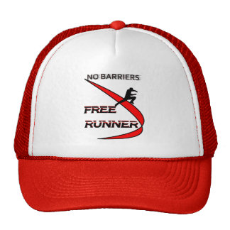 no barriers free runner trucker hat