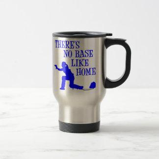 No Base Like Home, blue.png 15 Oz Stainless Steel Travel Mug