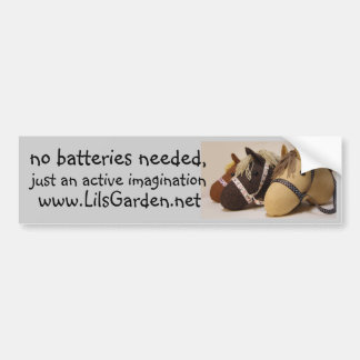no batteries needed bumper sticker