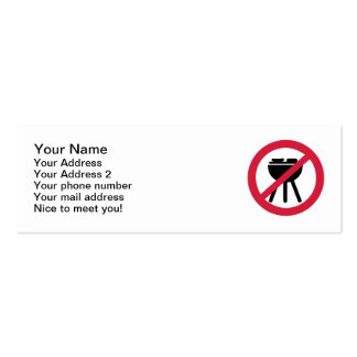 No BBQ barbecue Business Card Templates
