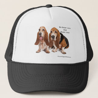 no better love than basset love trucker hat